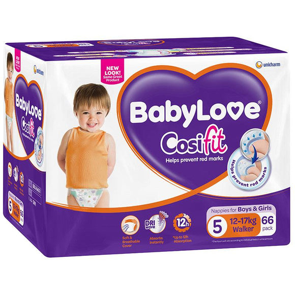 Babylove Cosifit Jumbo Nappies Walker 66