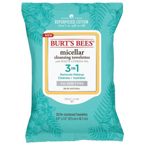 Burts Bees Micellar Facial Cleansing Towelettes 30 Wipes