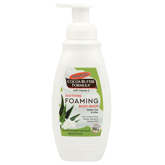 Palmers Cocoa Butter Foaming Body Wash Soothing Aloe & Green Tea 400ml