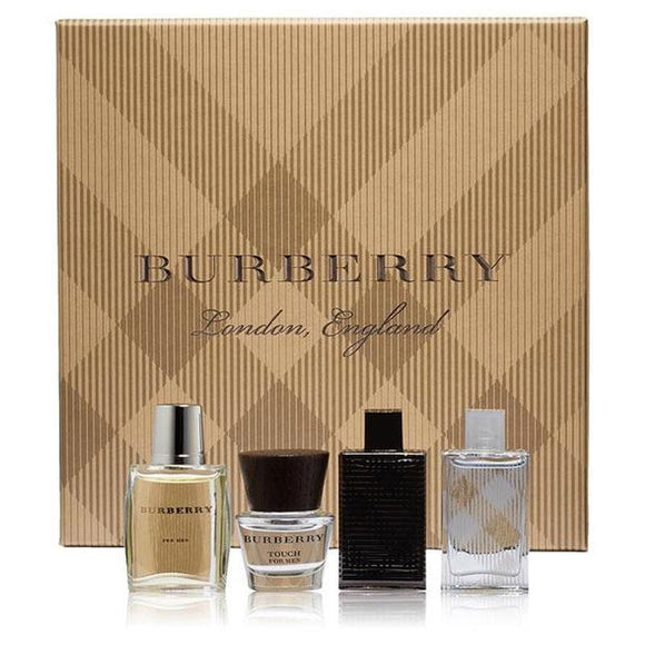 Burberry Men's 4 Piece Miniture Set