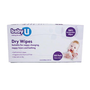 Baby U Dry Wipes 100 Pack