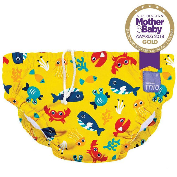 Bambino Mio Reusable Swim Nappy Deep Sea Yellow (1-2 Years)