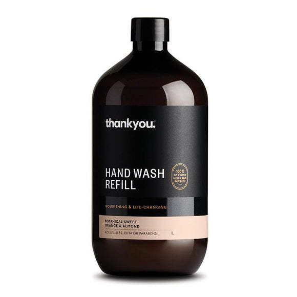 Thankyou Botanical Sweet Orange & Almond Hand Wash Refill 1 Litres