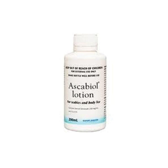 Ascabiol Emulsion 25% Scabies & Head Lice 200ml