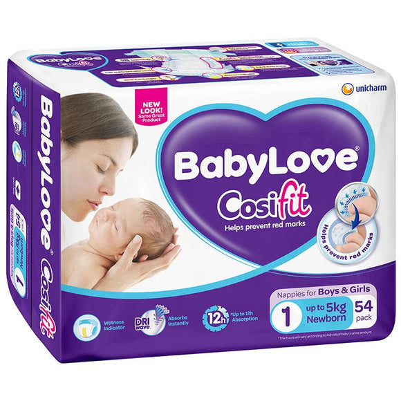 BabyLove Bulk Nappies Newborn 54 Pack