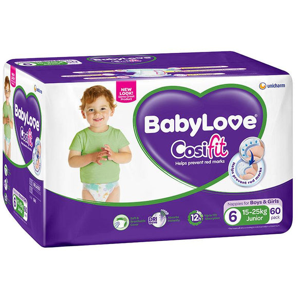 Babylove Cosifit Jumbo Nappies Junior 60