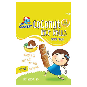 Little Quacker Coconut Rice Rolls Banana 40g