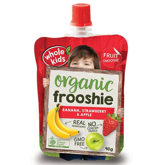 Whole Kids Organic frooshie Fruit Banana, Strawberry & Apple 90g