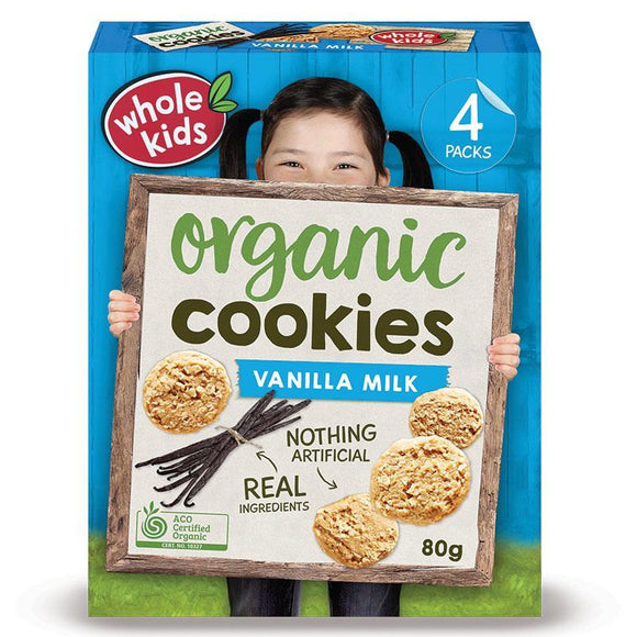 Whole Kids Organic Cookies Vanilla 80g