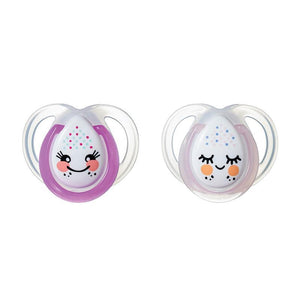 Tommee Tippee Closer To Nature Night Time Soothers 0-6 Months 2 Pack