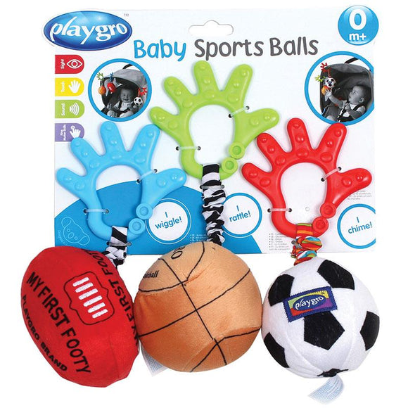 Playgro Baby Sports Ball Trio
