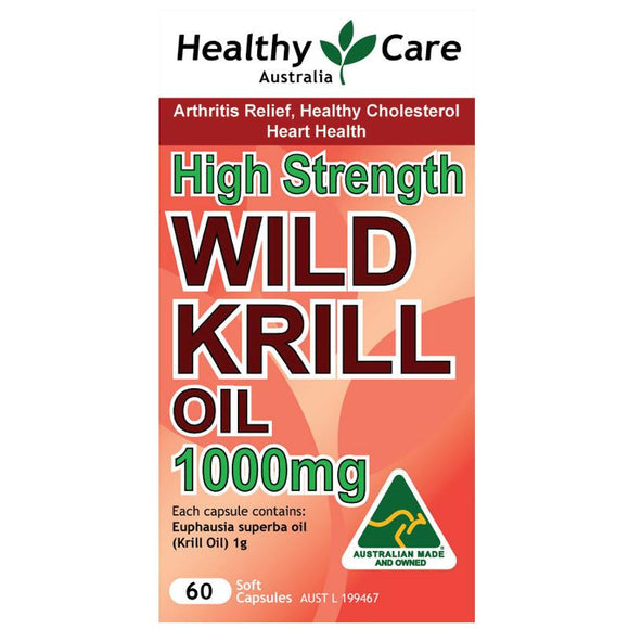 Healthy Care Wild Krill Oil 1000mg 60 Capsules