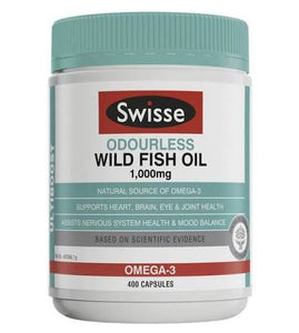 Swisse Ultiboost Odourless Wild Fish Oil 1000mg 400 Capsules