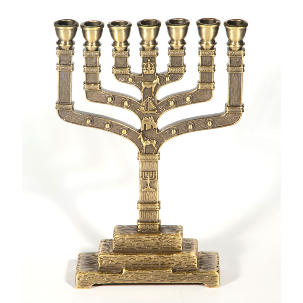 12 Tribes Symbols Menorah Holy Land Gifts