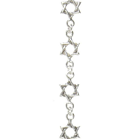 Bracelet: Star of David, Silver - Holy Land Gifts