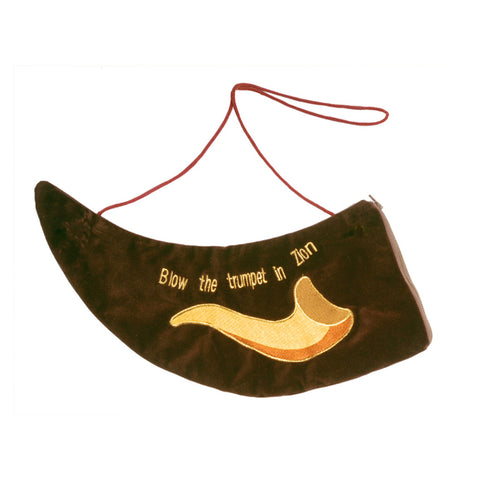 Embroidered Brown Rams Horn Bag - Holy Land Gifts