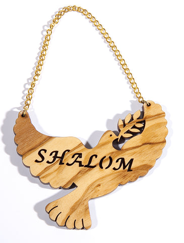 Olive Wood Dove Ornament
