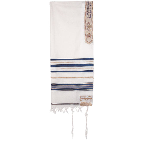 "Blue Acrylic Tallit 50"" Yehuda - Holy Land Gifts"