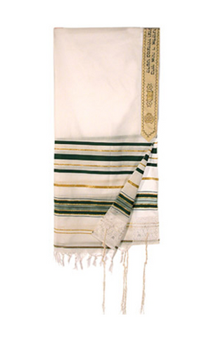 Green Levi Acrylic Tallit - Holy Land Gifts