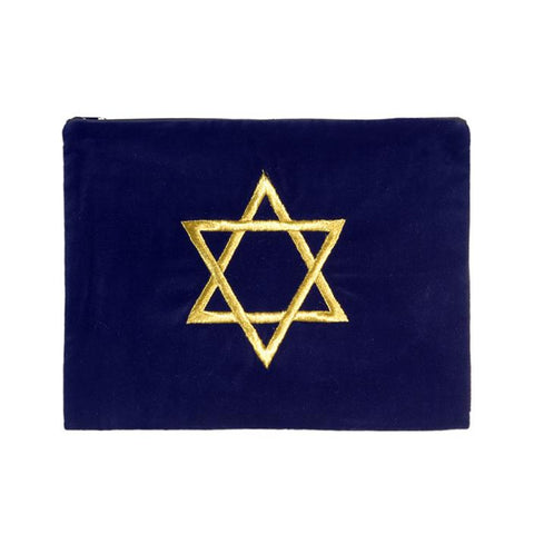 Embroidered Velvet Star of David Tallit Bag - Holy Land Gifts