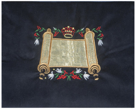 Embroidered Velvet Torah Tallit Bag - Holy Land Gifts