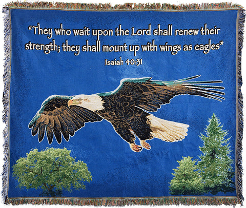 On Eagles Wings Blanket