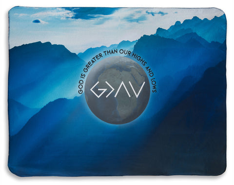 """God Is Greater"" Fleece Blanket"
