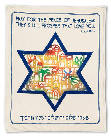 Pray for the Peace Plush Blanket