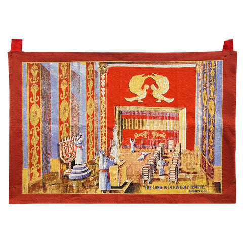 Red Tabernacle Tapestry - Holy Land Gifts