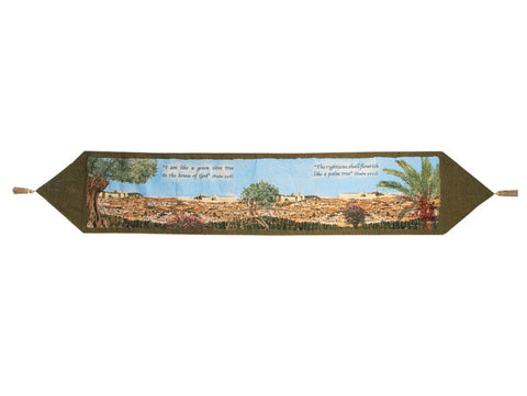 Trees and Jerusalem Table Runner Tapestry