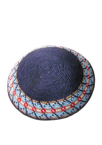 Crocheted Blue Kippah