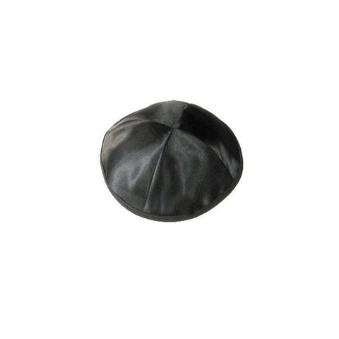 Satin Black Kippah - Holy Land Gifts