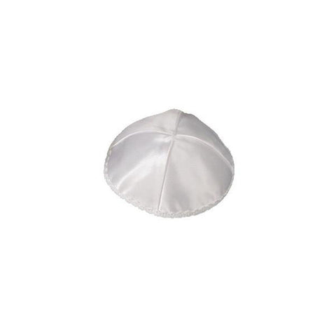 Satin White Kippah