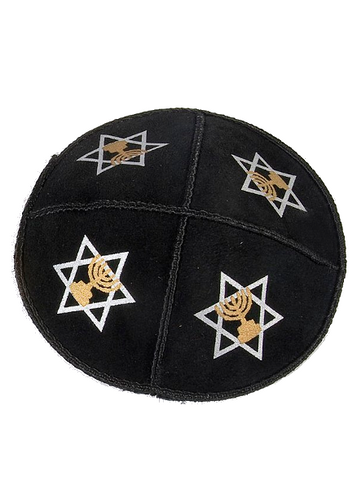 Menorah with Star of David Kippah