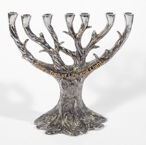 God's Tree of Life and Light Menorah - Holy Land Gifts