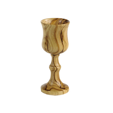 Large Olivewood Wine Cup - Holy Land Gifts