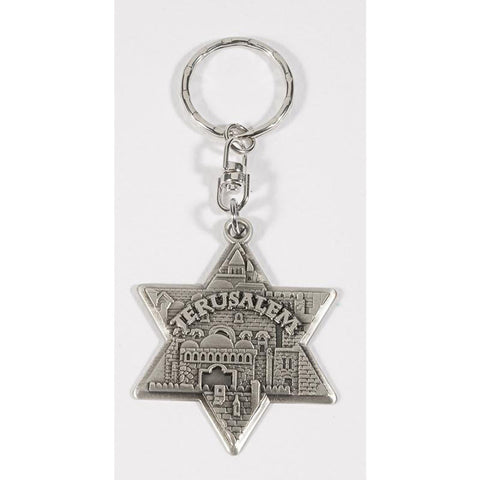 Keychain Star of David Jerusalem
