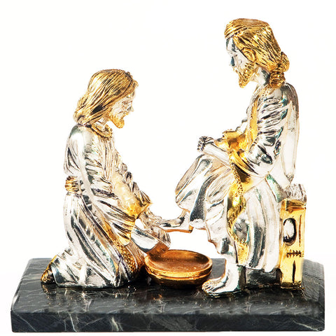 Jesus Washing the Feet of his Disciple Statue