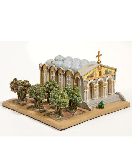 Church of All Nations & Gethsemane Cityscape Statue
