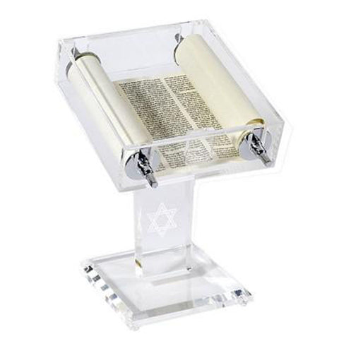 Torah Scroll and Acrylic Stand