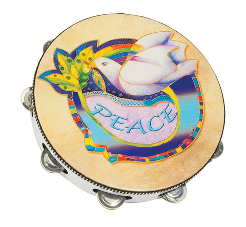 Dove of Peace Wood Tambourine - Holy Land Gifts