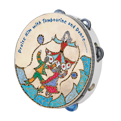 Tambourine Psalm 150 - Holy Land Gifts