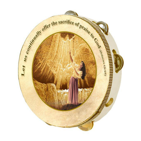Tambourine Sacrifice of Praise - Holy Land Gifts