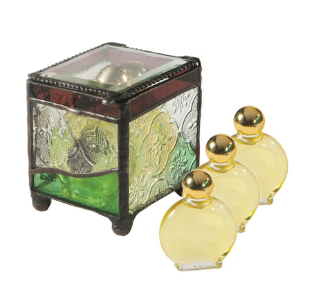 Stained Glass Anointing Oil Box - Holy Land Gifts