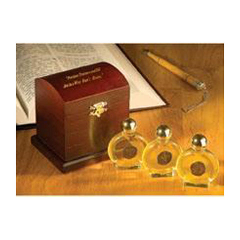 """Precious Treasures and Oil"" Anointing Oil Gift Box - Holy Land Gifts"