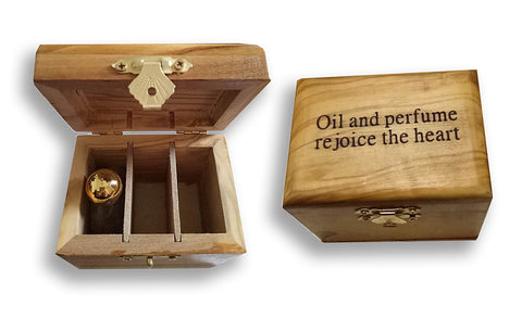 Rejoice the Heart Olivewood Anointing Oil Box