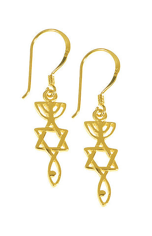 Messianic Roots Gold-Plated Earrings