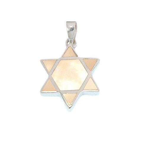 Star of David with Mother of Pearl Inlay Necklace