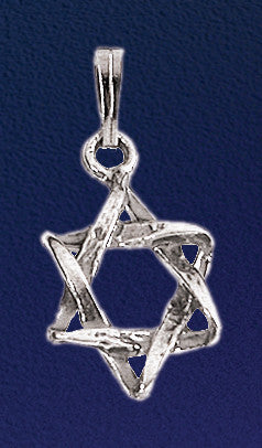 Intertwined Star of David Necklace