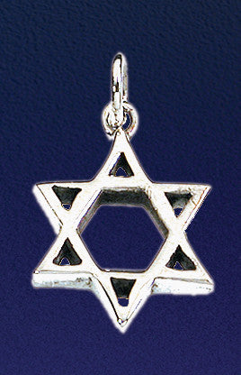 Modern Minimalist Star of David Necklace